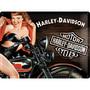 Seinäkyltti, Harley-Davidson Biker Babe 30x40 cm (UUSI)