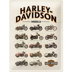 Seinäkyltti, Harley-Davidson Models 30x40 cm (UUSI)