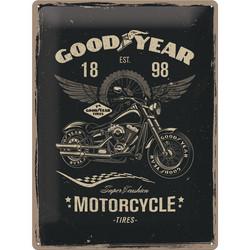 Seinäkyltti, Goodyear moottoripyörä 30x40 cm (UUSI)
