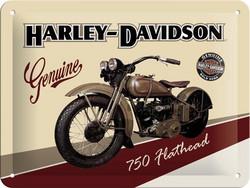 Metal Sign,  Harley-Davidson 750 Flathead (new)