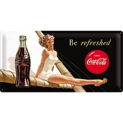 Seinäkyltti, Coca-Cola Be refreshed 25x50 cm (UUSI)