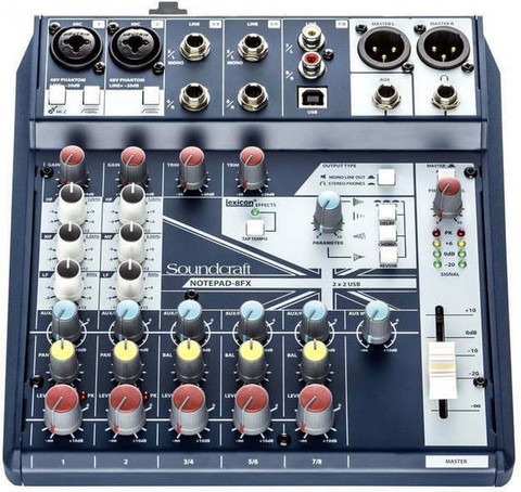 Soundcraft Notepad-8FX mikseri (uusi)