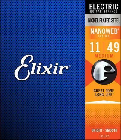 Elixir Nanoweb Medium 11-49 kielisarja sähkökitaralle