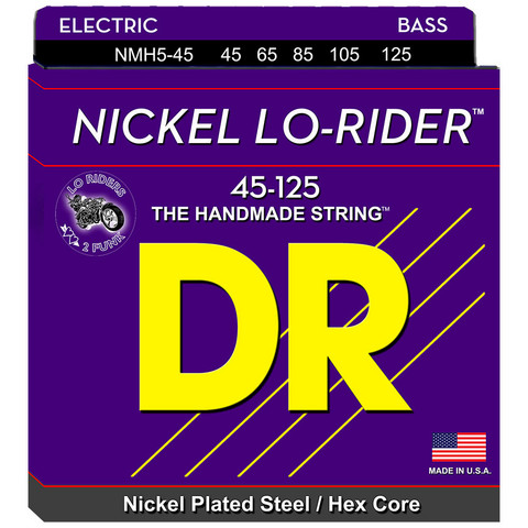 DR STRINGS NICKEL LO-RIDER NMH5-45 45-125 5-KIELISEN