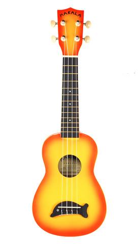 Kala Makala Dolphin sopraano-ukulele Orangeburst (uusi)
