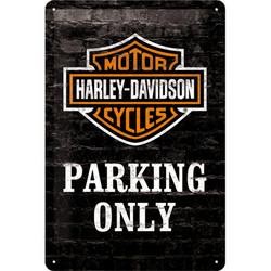 Seinäkyltti, Harley-Davidson parking only 20 x 30 cm (UUSI)