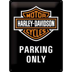 Seinäkyltti, Harley-Davidson - Parking Only 30 x 40 cm (UUSI)