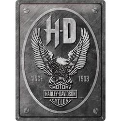 Seinäkyltti, Harley-Davidson - Metal Eagle 30 x 40 cm (UUSI)