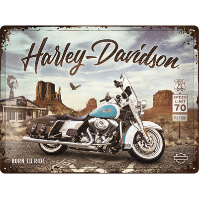 Kilpi 30 x 40 cm Harley Davidson - Route 66 Road King Classic