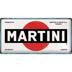 Kilpi 25 x 50 cm Martini - Logo White (uusi)