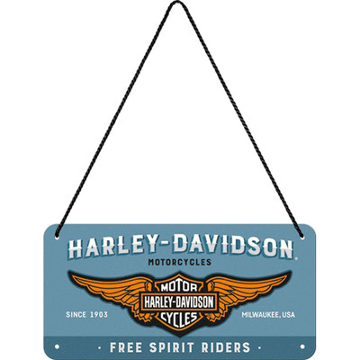 Nostalgic Art Seinäkyltti, Harley Davidson - Logo (UUSI)