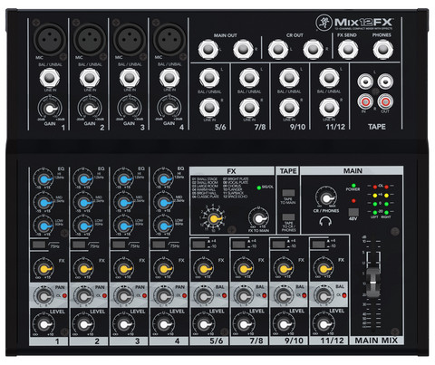 Mackie MIX12FX 12-channel Compact Mixer (new)