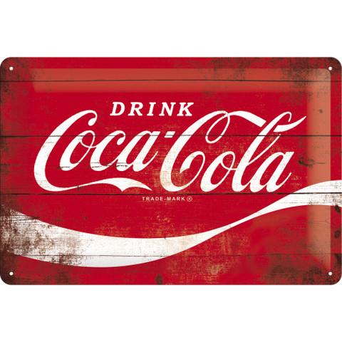 Metal Wall Sign, Coca-Cola Logo 20 x 30 (NEW)