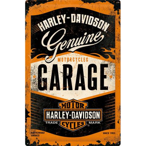 Metal Wall Sign, Harley-Davidson Garage 40cm x 60cm (NEW)