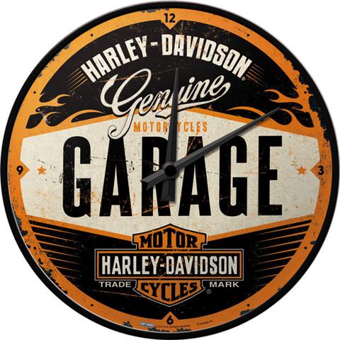 Wall Clock, Harley-Davidson Garage (NEW)