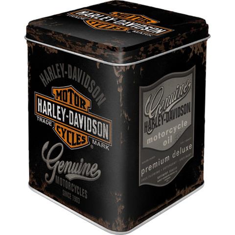 Tea box, storage tin can for Harley-Davidson fans, xs (NEW)
