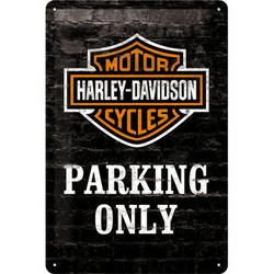 Seinäkyltti, Harley-Davidson Parking only 40cm x 60cm (UUSI)