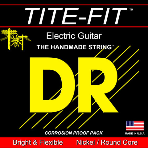 DR Strings Tite-Fit 22 Electric Guitar String, Wound