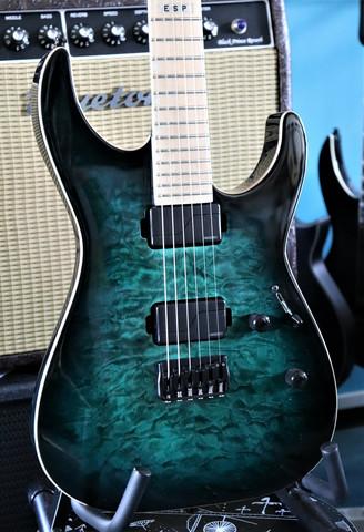 ESP E-II M-II NT Hipshot Black Turquoise Burst 2018 (used)
