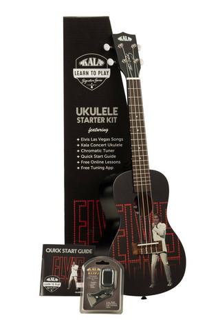 Kala Learn To Play Elvis Viva Las Vegas Concert Ukulele (uusi)