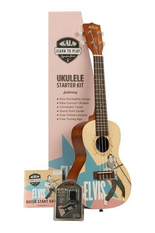 Kala Learn To Play Elvis Rockabilly Concert Ukulele (new)