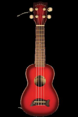 Kala Soprano Dolphin Bridge Redburst ukulele (uusi)