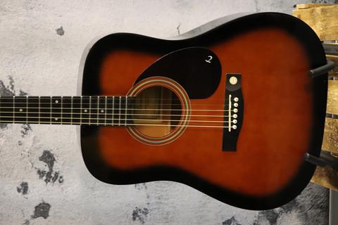 Tenson D-1 akustinen kitara gig bagilla (käytetty)
