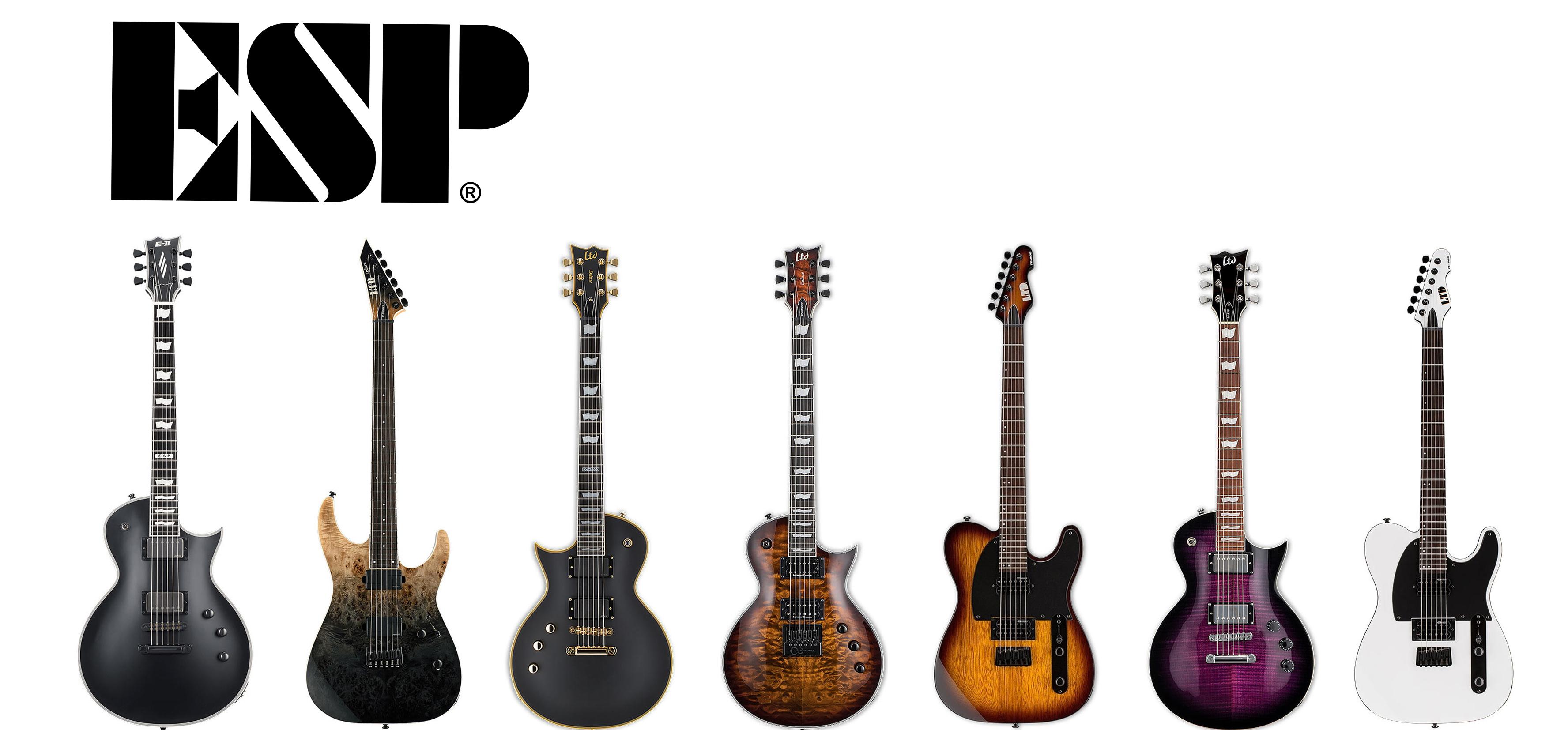 ESP:n laadukkaat kitarat. Klikkaa valikoima auki.