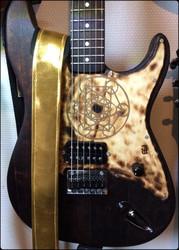 Guitar Strap Wood'n'sound Shiny Gold (new)