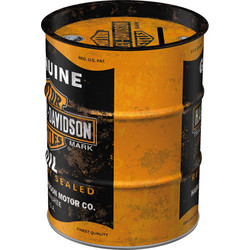 Säästölipas, tynnyri, Harley-Davidson Genuine Oil (UUSI)
