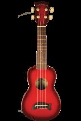 Kala Soprano Dolphin Bridge Redburst ukulele (new)