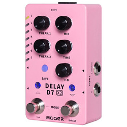 Mooer D7 X2 Delay Effects Pedal (new)