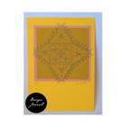 Nyplätty - kortti - keltainen