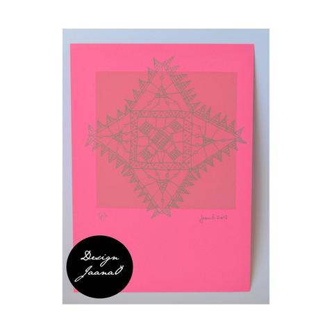Nyplätty - kortti - pinkki