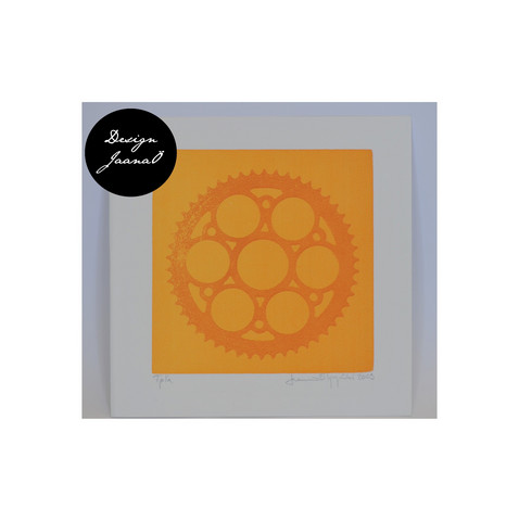 Ratas - Taitettu kortti - oranssi