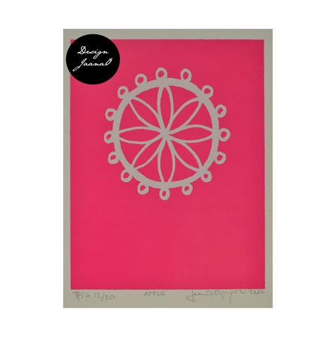 Apple - Taitettu kortti - pinkki1