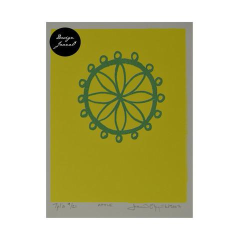 Apple - Taitettu kortti - keltainen