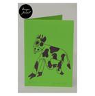 Lehmä - taitettu kortti - vihreä