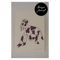 Lehmä - kortti - violetti