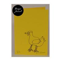 Kana - taitettu kortti - keltavioletti