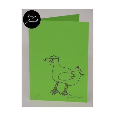 Kana - taitettu kortti - vihreävioletti