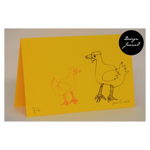 Kanat - taitettu kortti - keltainen1