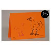 Kanat - taitettu kortti - oranssi