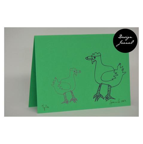 Kanat - taitettu kortti - vihreä