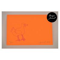 Kana - pakettikortti - oranssipinkki