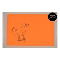 Kana - pakettikortti - oranssivioletti