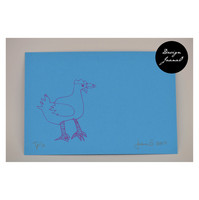Kana - pakettikortti - sinipinkki