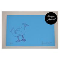 Kana - pakettikortti - sinivioletti