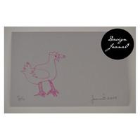 Kana - pakettikortti - vaal.harmaapinkki