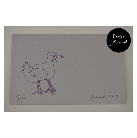 Kana - pakettikortti - vaal.harmaavioletti